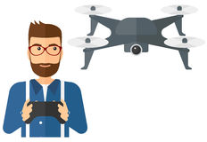 Man flying drone Royalty Free Stock Photo