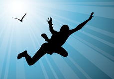 Man flying, freedom Stock Photography