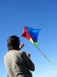 Man flying a kite Royalty Free Stock Photo