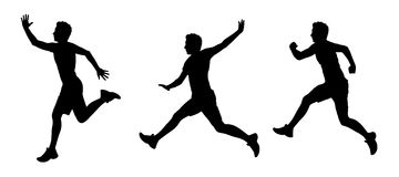 Man flying silhouettes set 1 Stock Photography