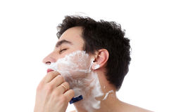 Man and foam Royalty Free Stock Images