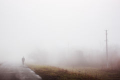 Man in fog Royalty Free Stock Photography