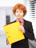 Man with folders Royalty Free Stock Photos