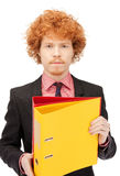 Man with folders Stock Photography