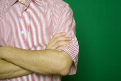 Man folding arms Royalty Free Stock Photography