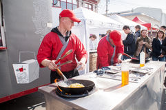 Man Food Fair Stock Photography