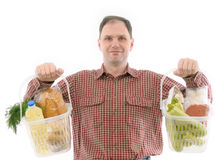 Man with foods Royalty Free Stock Photo