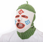 Man in funny Balaclava. Royalty Free Stock Photography
