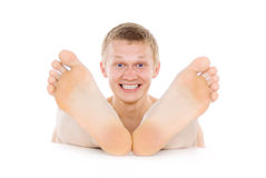 The man foot, toes, feet Royalty Free Stock Image