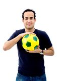 Man with a football Stock Photography