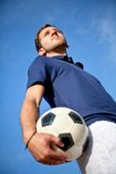 Man with a football Royalty Free Stock Photography
