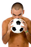 Man with a football Stock Image