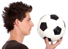Man with a football Stock Images