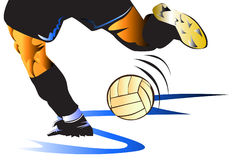 Man football action Royalty Free Stock Photo