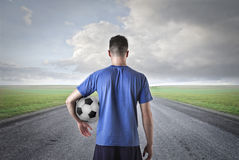 Man with a football ball Royalty Free Stock Images
