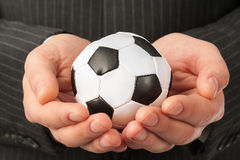 Man with football Royalty Free Stock Images