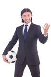 Man with football Royalty Free Stock Photography