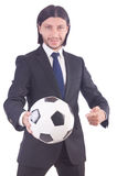 Man with football Stock Photography