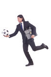 Man with football Stock Photo