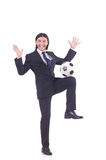 Man with football Royalty Free Stock Photos