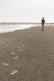 Man footprint Stock Photography