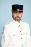 Man in the form of a naval officer Stock Image
