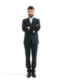 Man in formal wear with folded hands Stock Photography