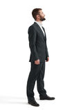 Man in formal wear looking up Royalty Free Stock Image