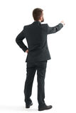 Man in formal wear pointing finger Royalty Free Stock Photo