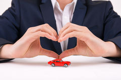 Man forming heart shape with his hands Royalty Free Stock Image