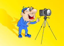 Man-fotograf Arkivbild