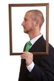 Man in frame Stock Photos
