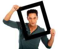 Man framing his face Royalty Free Stock Images