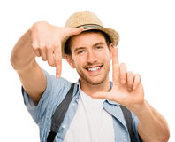 Man framing photograph fingers Stock Images