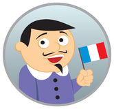 Man from France. See more  nationalities in my portfolio Royalty Free Stock Photo