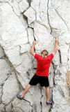 Man free climbing 1 Stock Photo