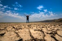 Man freedom panorama dry land Stock Images