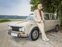 Man in front of his car Stock Image