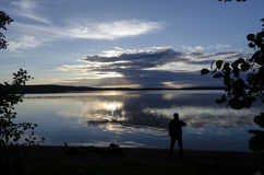 Man in front of  a Lake. Royalty Free Stock Photo