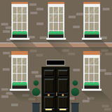 A man in front of their house icon great for any use. Vector EPS10. Stock Image