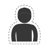 Man front view cap figure pictogram Royalty Free Stock Photography