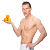 Man with fruits Royalty Free Stock Photo