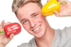 Man with fruits Stock Images