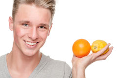 Man with fruits Royalty Free Stock Image