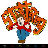 Man Frustrated Stuttering. An image of a frustrated man stuttering vector illustration