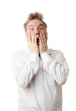 Man in frustration, anger and screaming Stock Photography