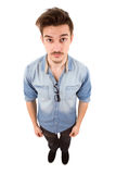 Man full body. Young casual man full body in a white background Royalty Free Stock Photography