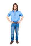 Man full length. Young man full length portrait isolated over white royalty free stock photos