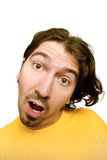 Man with a funny face Stock Image