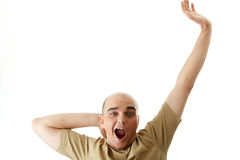 Man with funny facial expression Stock Image
